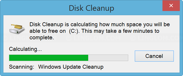 Scanning system files on Disk Cleanup