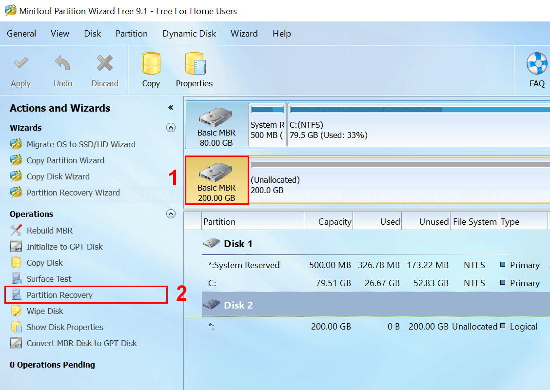 MiniTool Partition Wizard - Partition Recovery