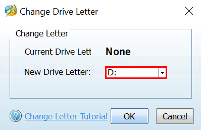 MiniTool Partition Wizard - Choose drive letter