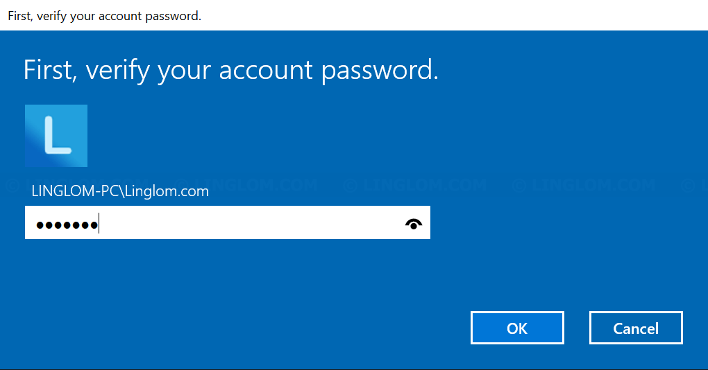 Enter your account password