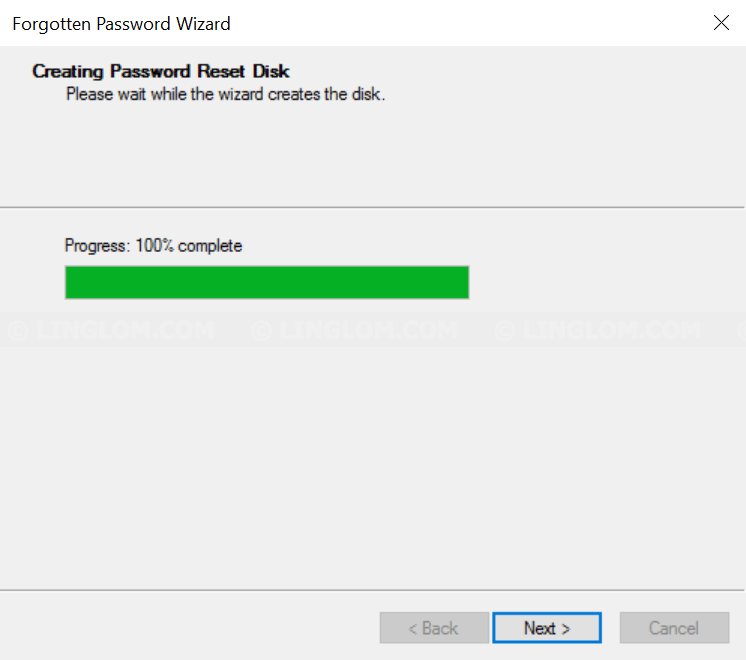 Creating password reset disk