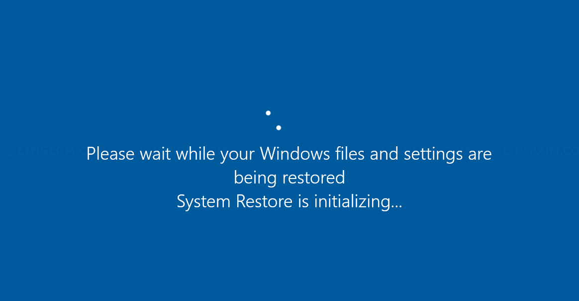 Restoring Windows system