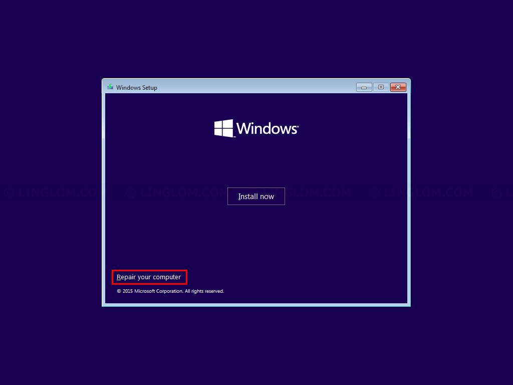 Click Repair your computer