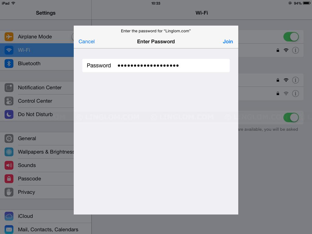 Change Wi-Fi password