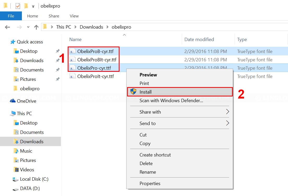 Install Font