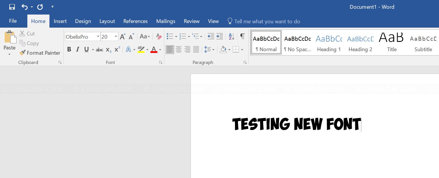Test new font