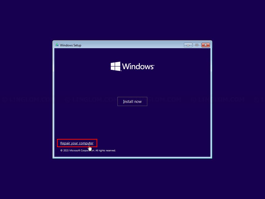 Select Repair your computer