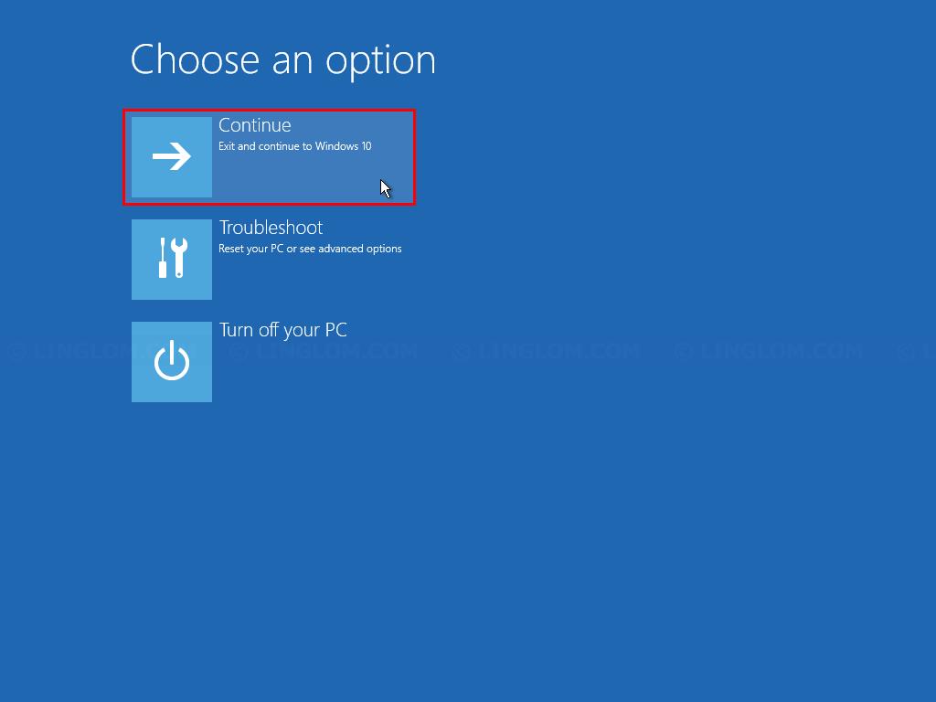 Boot into Windows 10