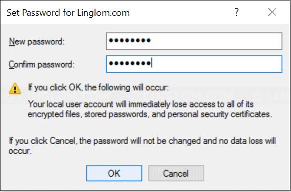 Type new user password
