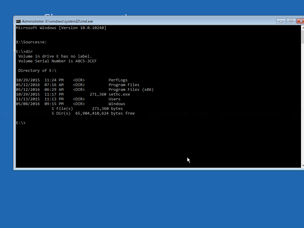 Open Command Prompt window