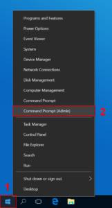 Open Command Prompt (Admin)