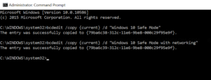 Duplicate current boot entry