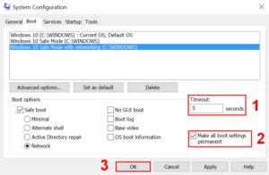 Configure boot menu