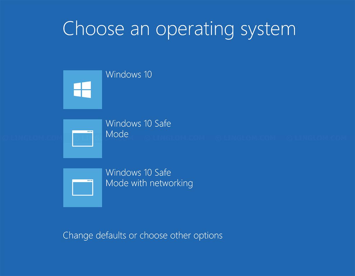 Add Safe mode to boot menu on Windows 10 - Linglom.com