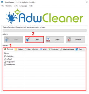 Clean malware with AdwCleaner