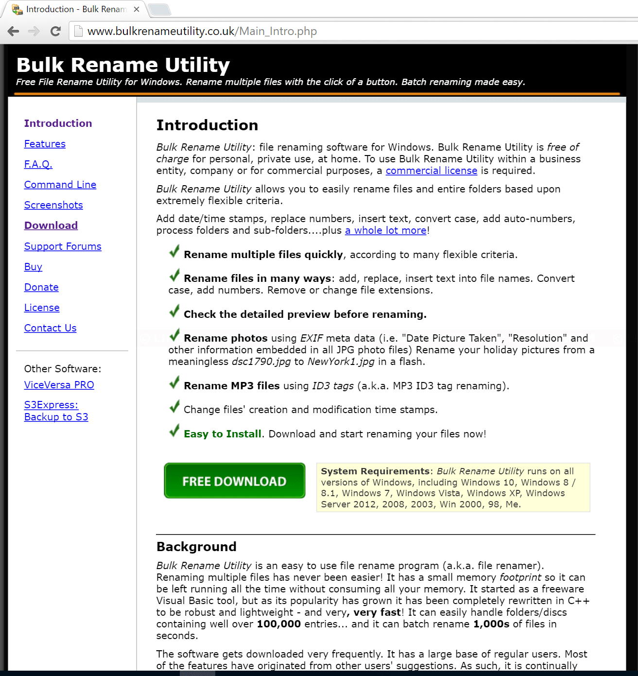 Rename multiple files with Bulk Rename Utility - Linglom.com