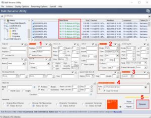 Configure renaming options