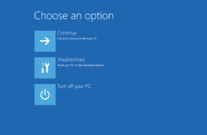 Advanced Startup Options in Windows 10