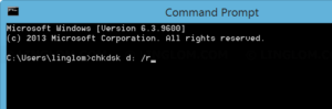 Run chkdsk command