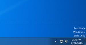 Test mode message on Windows 7