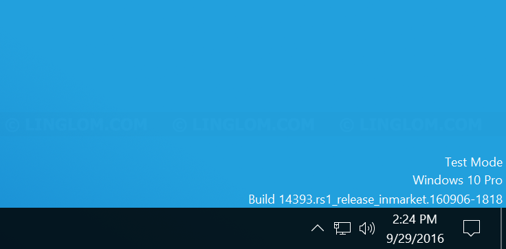 Disable test mode message in Windows - Linglom.com