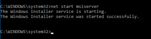 Start Windows Installer service