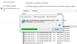Successfully uninstall program in Safe mode