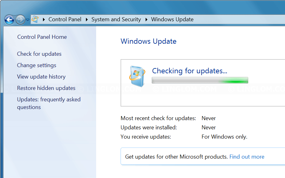 Fix] Stuck at checking for updates on Windows 7 - Linglom com