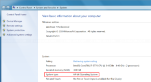 Check if your Windows system is 32-bit or 64-bit
