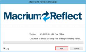 Install Macrium Reflect