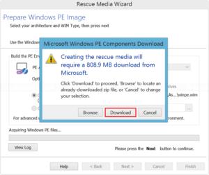 Download Windows PE image
