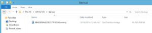 A backup image file