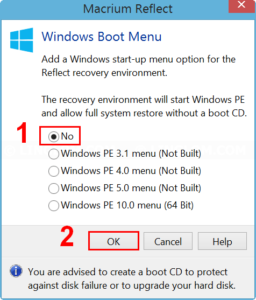 Remove Reflect recovery boot menu