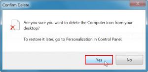 Confirm deleting desktop icon