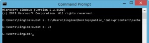 Delete a virtual drive with subst command