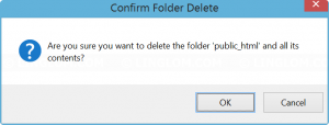 Confirm deleting a folder