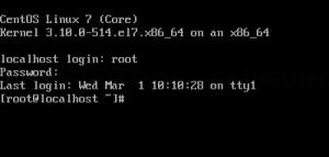 Login to CentOS 7 server
