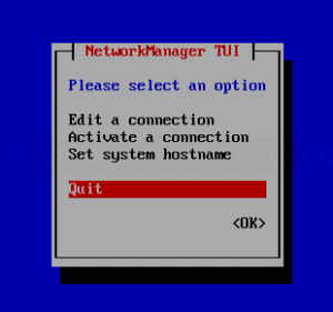 Exit Network Manager