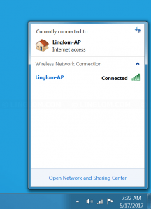 Re-connect to the wireless network