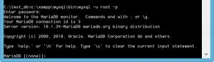 Login to MySQL server