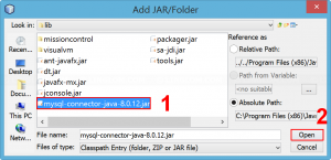Add the JAR file to project
