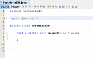 Import java.sql libraries