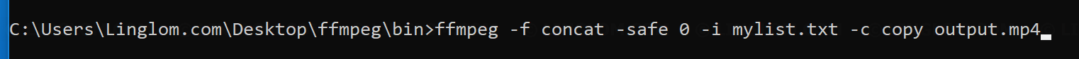Fix Unsafe File Name when run ffmpeg command - Linglom com